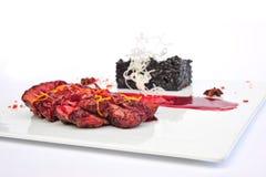 Steak Ribeye on white plate Royalty Free Stock Photography