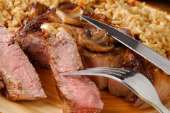 Steak and rice Royalty Free Stock Photography
