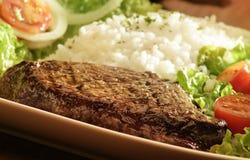 Free Steak, Rice And Salad Stock Image - 51506081