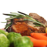 Steak and rosemary herbs Stock Photos