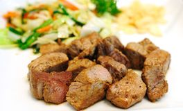 Steak with Salad Stock Image