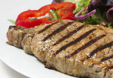 Steak and salad Stock Image