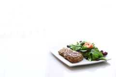 Steak and salad Royalty Free Stock Image