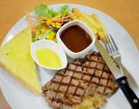 Steak with salad Royalty Free Stock Photo