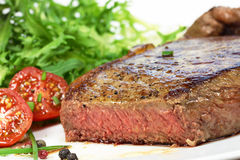 Steak and salad Stock Photography