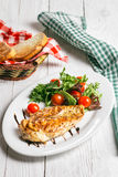 Steak and salad on a plate. Chicken steak with salad on the plate Stock Photo