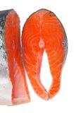Steak salmon. Steak red salmon on a white background Stock Image