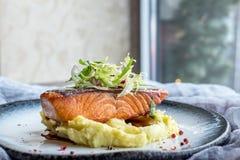 Steak salmon teriyaki Royalty Free Stock Photo