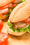 Steak Sandwich Royalty Free Stock Image