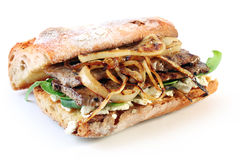 Steak-Sandwich Stockbild