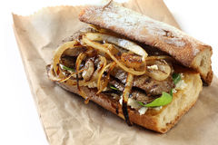 Steak Sandwich stock photo