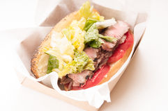 steak sandwich take out meal Royalty Free Stock Photography