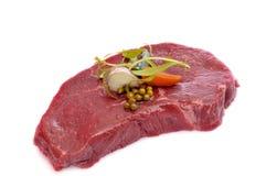 Steak with seasonings Royalty Free Stock Photo