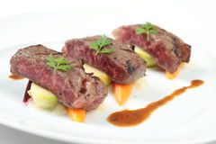 Steak served in non traditional manner Stock Photo