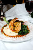 Steak & Shrimp Royalty Free Stock Images