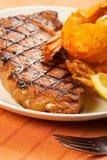 Steak and Shrimp Stock Photography