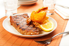Steak and Shrimp Royalty Free Stock Photo