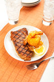 Steak and Shrimp Royalty Free Stock Photography