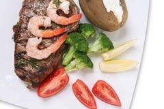 Steak and Shrimp Royalty Free Stock Photos
