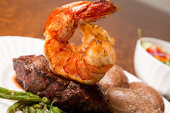Steak and Shrimp Stock Image
