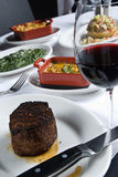 Steak and sides Royalty Free Stock Photos