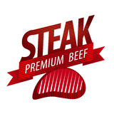 Steak sign Stock Photography