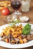 Steak slices stock photography