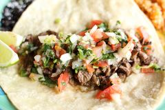 Steak soft taco Royalty Free Stock Photography