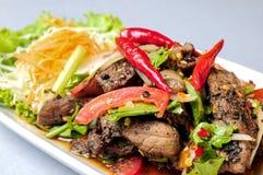 Steak spicy thailand style (yum steak mix) Stock Photos