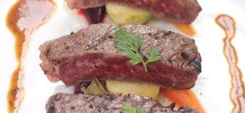 Steak strips closeup Royalty Free Stock Images