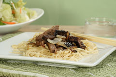Steak strips with onion Royalty Free Stock Photography