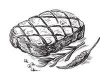 Steak symbol vector Royalty Free Stock Photo
