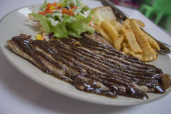 Steak T-bone with salad food and meal Royalty Free Stock Photos
