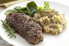 Steak with Tapenade Mash Stock Photography