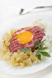 Steak tartare on a plate Stock Image