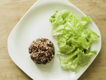 steak tartare and salad Royalty Free Stock Photography
