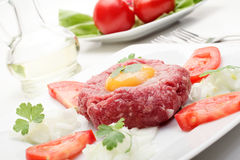 Steak Tartare. Selective focus Royalty Free Stock Photography