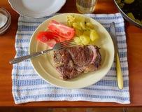 Steak, Tomato and Potato Stock Image