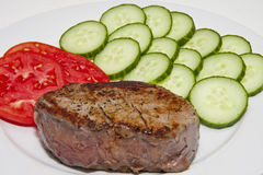 Steak Tomatoes and Cucumbers Stock Photos