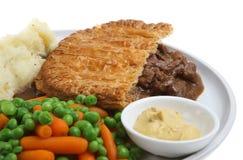 Steak-Torte-Abendessen stockfoto
