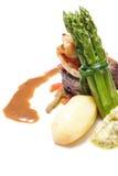 Steak u. Garnele Lizenzfreies Stockbild