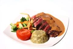 Steak u. Gemüse 02 Stockfotografie