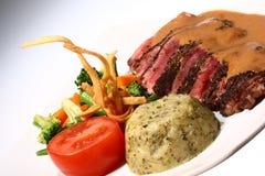Steak u. Gemüse Lizenzfreies Stockfoto
