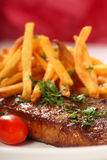 Steak und Fischrogen Lizenzfreie Stockfotografie