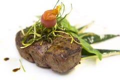 Steak und Gemüse Lizenzfreie Stockbilder