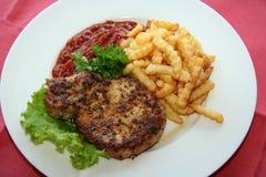 Steak und Kartoffel lizenzfreie stockbilder
