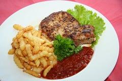 Steak und Kartoffel stockfotografie