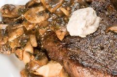 Steak-und Kartoffel-Abendessen Stockfoto