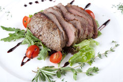 Steak with vegetable Stock Image