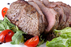 Steak with vegetable Royalty Free Stock Images